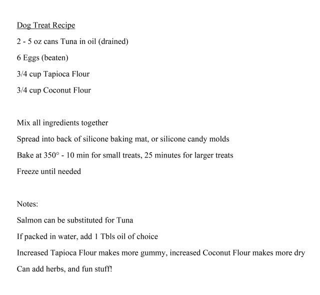Dog Treat Recipe